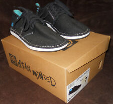 Ocean Minded Cotton Beach Shoes Mens size 7 Solid Black with Blue Trim