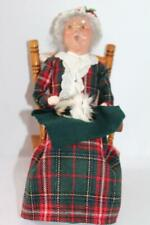 BYERS CHOICE Carolers 2005 WOMAN HOLDING CAT In ROCKING CHAIR Christmas 10.5""