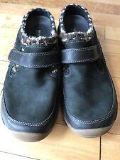 Merrell Encore Echo Shoes Size 9 Black Leather Clog Shoe Slip On Shoes Stylish