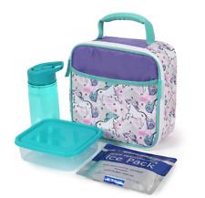 Arctic Zone UNICORN Purple Insulated Lunch Bag, BPA Food Box, Bottle, Ice Pk NEW