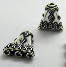 2 Pieces 925 Sterling Silver Necklace Reducer Multi Strand Clasp Bali Beads Hook