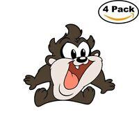 Taz Tasmanian Devil 4 Stickers Cartoon Window Sticker Decal 4X4_18
