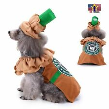 Starbucks Pumpkin Dog Dress Up, Funny Pet Costume Cosplay Halloween Party Outfit