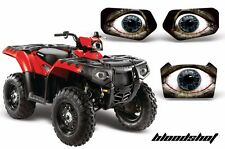 Headlight Eye Graphics Kit Decal Cover For Polaris Sportsman 500 11-15 BLOODSHOT