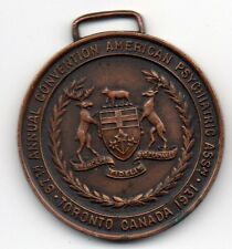 Vintage 1931 Toronto 87th Convention Medal - American Psychiatric Association