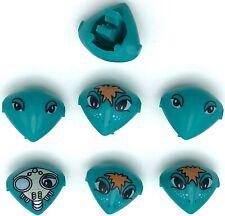 Lego Alien Minifigure Turquoise Heads Life on Mars Pieces