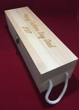 Wine Box Personalised Engraved FATHERS DAY or Birthday Gift