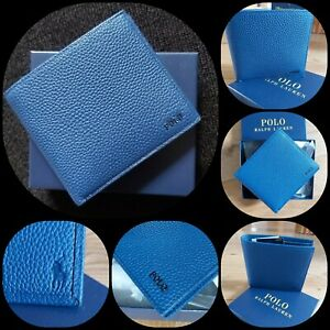 BNWB A Very Samrt POLO RALPH LAUREN BF-WALLET BLUE. 100 % Cow leather Great Gift