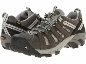 NEW KEEN FLINT LOW MEN SAFETY SHOE STEEL TOE GARGOYLE  LEATHER MESH FREE SHIP