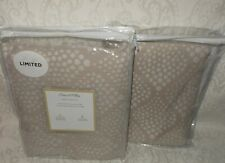 2 Peacock Alley Cotton Matelasse King Pillow Shams Beige Nwt Free Shipping