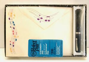 Vtg Sheaffer No Nonsense Pen and Musical Notes Stationery And Envelopes Sealed!