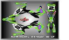 2016-17 KAWASAKI KX450 KX 450F CUSTOM MADE RETRO 2 GRAPHIC KITS DECAL