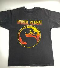 Mortal Kombat T Shirt Vintage Black Classic Crew Neck S M