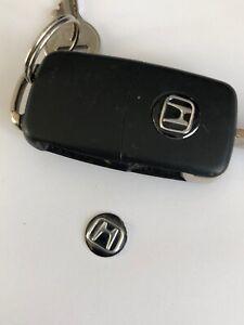 Honda Keyring Sticker x 2 for standard flip key Honda Stickers apx 14mm