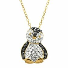 Finecraft (SAX5797FCYXWM18) Penguin Pendant with Crystals - Yellow