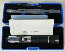 Portable Hand Held Refractometer Atc With Case And Accessories