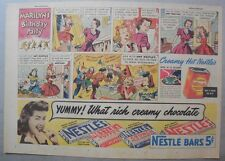 Nestle's Chocolate Bars Ad: Marylin's B-Day Party ! 1930's-1940's 11 x 15 inches
