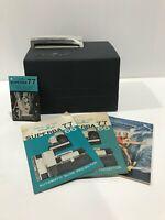Vintage Airequipt Superba 77 Model C Slide Projector 2x2 Slides Fan Runs Gray