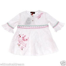 Catimini adorable girls white dress Sz 3 - 4 yrs NWT sequin's beading embroidery