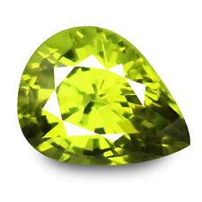 1.74ct 100% Natural earth mined alexandrite family yellowish green chrysoberyl
