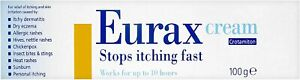 Eurax Itch Relief Cream Stop Itching Skin Irritation 100 g
