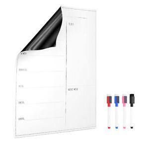 Magnettafel Wochenplaner für Kühlschrank 40x30cm Wochenplan Kalender Deutsch