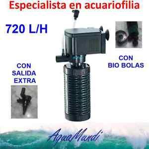 filtro interior interno acuario 720 L/H ip728 barato tortuguera pecera