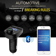 Wireless Car Bluetooth 4.0 Fm Transmitter Mp3 Player Radio 2Usb Charger Handfree(Fits: Charger)