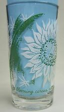 Night-blooming cereus catcus Peanut Butter Glass Glasses Drinking  Mauzy 74-6