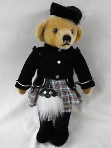 Merrythought Ironbridge Shrops Scottish Bear - Kilt, Purse, Clan Colors 18 Inch