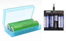 2er SET LG Akku 18650 MJ1 3500mAh 10A inkl. XTAR MC4 für e Zigaretten Akkuträger