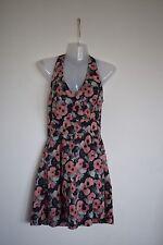Vero Moda Ladies 🌹Asarah Flower🌹Halterneck Mini Dress Size 38 Uk 10