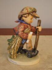 "W German Figurine Goebel M.J. Hummel On Secret Path 1971 386 5.5"" Boy Hiking"