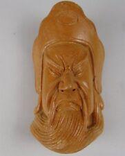 YN33 Netsuke mask Omen Wood Hand-carved Japanese Vintage Art Geijyutu