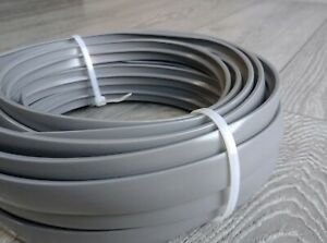 20 Metres Double Lipped Mid / Dark Grey T-Trim Knock On Edging - 15MM Fast Post!
