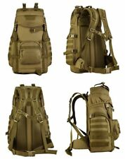 PLAYDO 55L Tactical Military Molle Assault Backpack Pack Waterproof Bag Rucksack