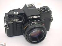 Minolta X-300 SLR-Kamera black mit Objektiv MD 50mm 1:1,7 (Ø49mm)