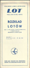 LOT Polish Airlines domestic timetable 10/2/61 [9101]