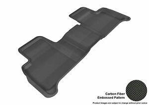 For 12-18 Mercedes-Benz GLK350 Kagu Carbon Pattern Black All Weather Floor Mat