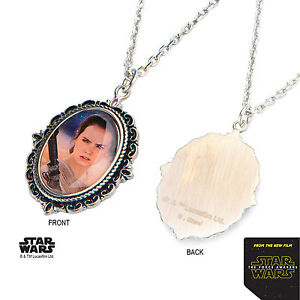 Star Wars Episode The Force Awakens Rey Stainless Steel Cameo Pendant Necklace
