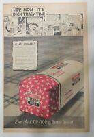 Wards Bread Ad: Hey, Mom It's Dick Tracy Time Radio ! 1940 Size: 11 x 15 inch