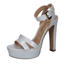 scarpe donna MI AMOR 38 EU sandali bianco vernice BY162-C
