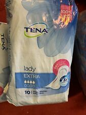 TENA Lady Extra - Pack of 10 Pads  - For Bladder Weakness 100% Leakage Security