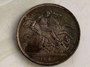 1887 1 Crown - Victoria Silver (.925) • 28.28 g • ⌀ 38.61 mm KM# 765, Sp# 3921