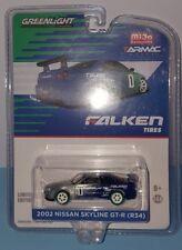 1/64 GREENLIGHT FALKEN TIRES 2002 NISSAN SKYLINE GT-R (R34) CHASE CAR
