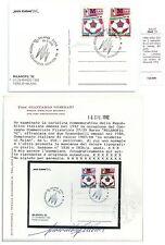 ITALIA 1992 CARTOLINA UFFCIALE MILANOFIL MILAN CAMPIONE D'ITALIA AZZURRO