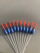10 X Paste Pole Floats Floats 0.3g Handmade Strong Through Stem Carp