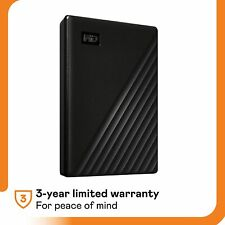 WD - My Passport 5TB External USB 3.0 Portable Hard Drive WDBPKJ0050BBK