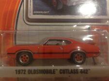 GREENLIGHT 1972 orange Oldsmobile Cutlass 442 W-30 GL Muscle 1/64 brand new MOC