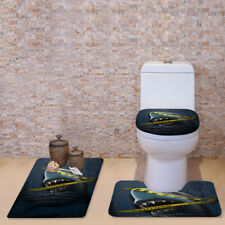 Funny Animal Design Batroom Carpet Rugs Toilet Commode Covers Set 3pcs Bathmat
